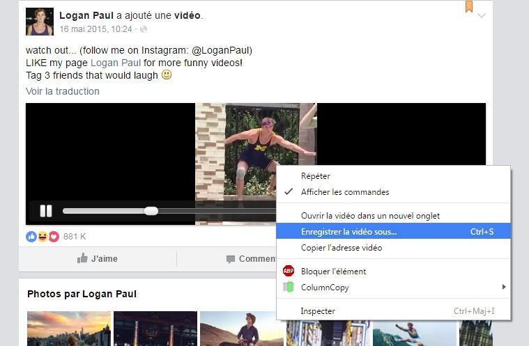 comment télécharger une vidéo facebook sans logiciel